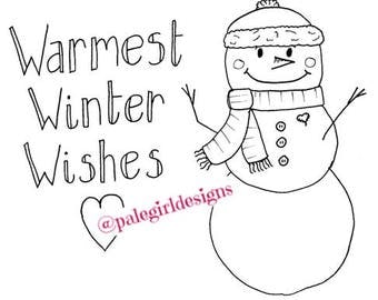 Warm Winter Wishes Coloring Page