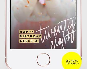 Snapchat Filter Birthday, Snapchat Geofilter Birthday, Birthday Snapchat Filter, 21st Birthday Filter, Birthday Filter, Geofilter