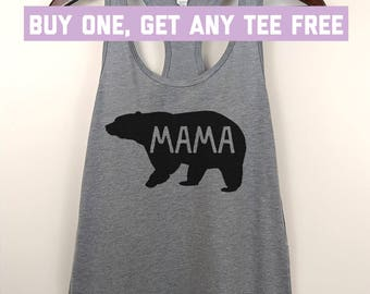 Bear tank top etsy sale today mama bear tank top ladies racerback tank funny gift for mom publicscrutiny Image collections