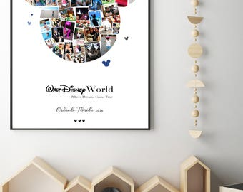 Mickey Mouse Photo Collage/Personalised/Photo/Custom Made/Gift/Disney/Picture Collage/Digital Copy/Printed Copy Active