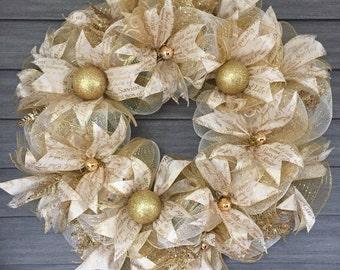 """Gold Savior Wreath 24"""""""