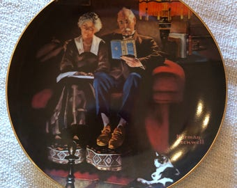 Evening's Ease by Norman Rockwell - Collectors Plate