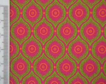 Shweshwe - South African Cotton - Wanderlust - Pink and Green.