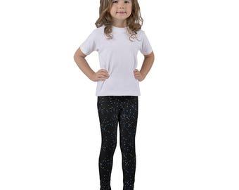 Kid's leggings, Constellations, Night Sky Leggings, Star Leggings, Astrology, Astrological, Zodiac Constellations, Black Leggings, Toddler