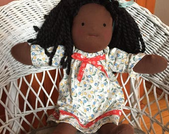 Waldorf doll, Handmade doll, Cloth doll, Steiner doll, Girl doll, Ragdoll, 16 inch doll