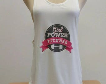 woman's tank top (girl power fitness desing)
