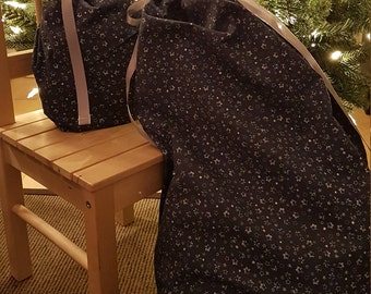 Gift bag - navy blue with stars