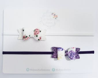 baby floral hair bow set