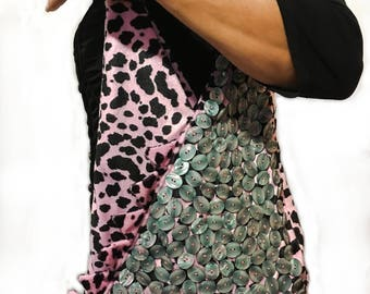 Dino - Handbag pink Leopard