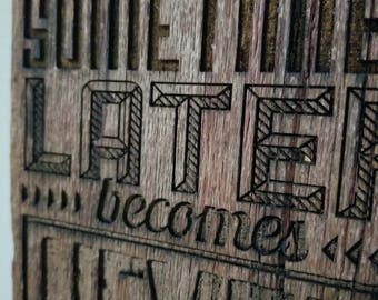 Barn wood signs / gifts for the office / gifts for the home / gifts for the shop / barn wood decor / have goals sign