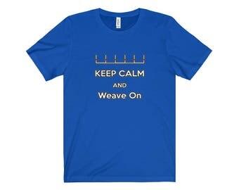 Dog Agility TShirt  Keep Calm And Weave On