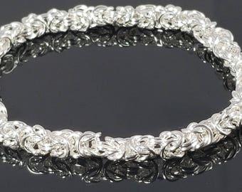 Italian Sterling Silver Byzantine Chain Bracelet