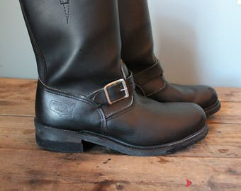Vintage Engineer Boots | Biker Boots | Made in USA | Size 9 Mens US