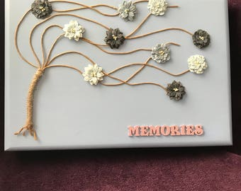 Hand crafted memories box
