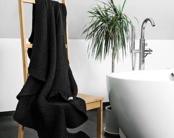 Large linen bath towels, linen sauna towel, Spa towel, Sauna towel