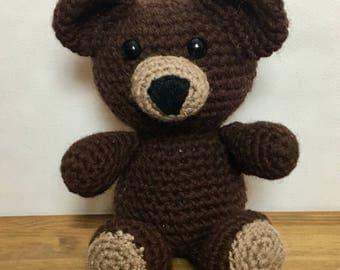 Crochet Teddy Bear, Stuffed Bear, Amigurumi, Crochet Toy, Plush Bear, Gift for Child
