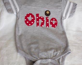 12-18 Month Buckeye Ohio Bodysuit