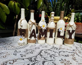 Home Decor Recycled Bottles Family