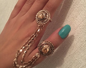 American diamond ring accessory's with chain