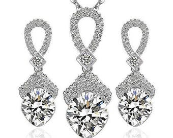 Diamond Earring and Necklace