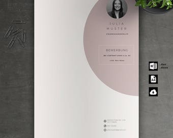 Application Template: Cover page, CV, letter for Word | Instant Digital Download | Mac or PC//No. 7.3 Rose