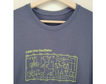 CEM3340 Oscillator - Voltage Controlled Oscillator Integrated Circuit - Electronic Analog Synth T-shirt