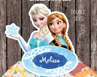 Personalized Frozen Cake Topper, Double Sided Cake Topper, Frozen Centerpiece, Frozen Birthday, Frozen decorations,