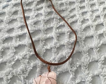 Wire Wrapped Rose Quartz