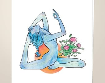 "Sacral Chakra, 8.5""x11"" Art Print"