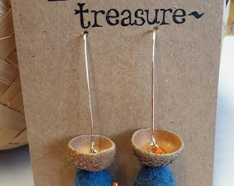 Berried Treasure berry-beaded earrings.