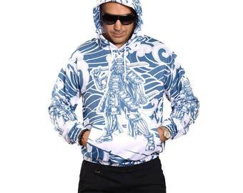 Samurai Surfer Hoodie Sweatshirt