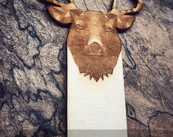 Engraved Deer Bookmark