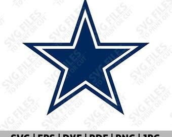 Dallas Cowboys SVG, Dallas Cowboys SVG File, Dallas Cowboys Logo, Football Logo, Cut Files Cricut Silhouette, Team Decal, Clipart - 02