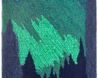 Once Upon a Time in Lapland -giclée print of original weaved textile art work