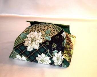 Reversible fabric roll warmer/bun cozy