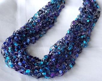 Majestic Ladder Yarn Crocheted Necklace
