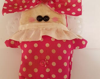 "Grungy Love Bug ""Love Bug Laurel"" - A Rag Doll made with love Valentine"