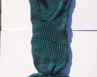 Mermaid tail cocoon/blanket for infants and toddlers