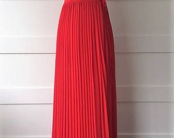 Red Spaghetti Strap Maxi with Criss-Cross Back