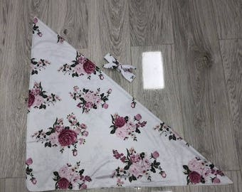 Romantic Floral  Baby Swaddle Blanket