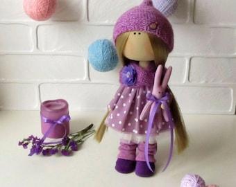 Lerika Doll - Anime Doll - Textile Doll - Rag Doll - Dolls - Fabric Doll - Tilda Doll - Interior Doll - Rag Doll Pattern - Christmas Gift
