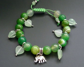 Beautiful Bracelet Exclusive Design. Natural Stones. Handmade ~ 31 g