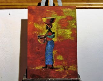 """Airs of Africa"" painting. African woman 6/6"