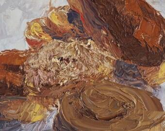 Doughnut Impasto Study - Oil painting on canvas