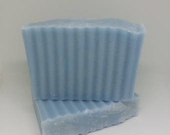 Clear Water Soap, masculine scent, gift for him, Father's day, cologne scented, handmade soap, bath and body