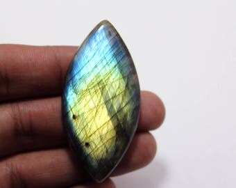 79.25Cts Natural Multi Flash Labradorite Marquise 54X26X7 mm Labradorite Loose Gemstone Amazing & Beautifull Labradorite Nice Flash AA-95