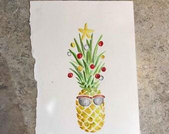 Christmas Pineapple Card