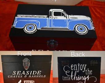 Vintage Truck Keepsake Box