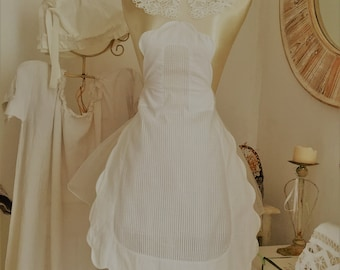 Hand made French Cotton Apron