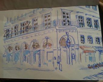 Paris Blue Street